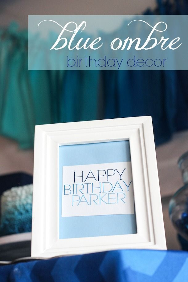 Blue Ombre Birthday Party Party Ideas Pinterest Ombre