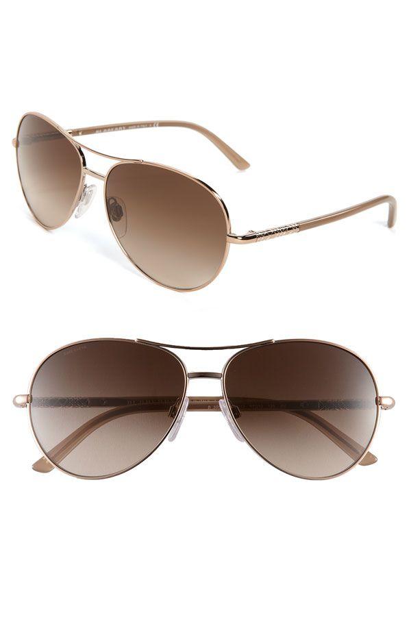 abbc2133da9c Burberry Metal Aviator Sunglasses