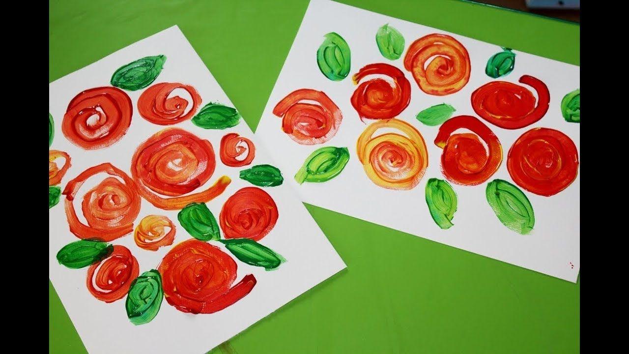 Rozyczki Spiralnie Malowane Craft Gifts Art For Kids Rose Painting