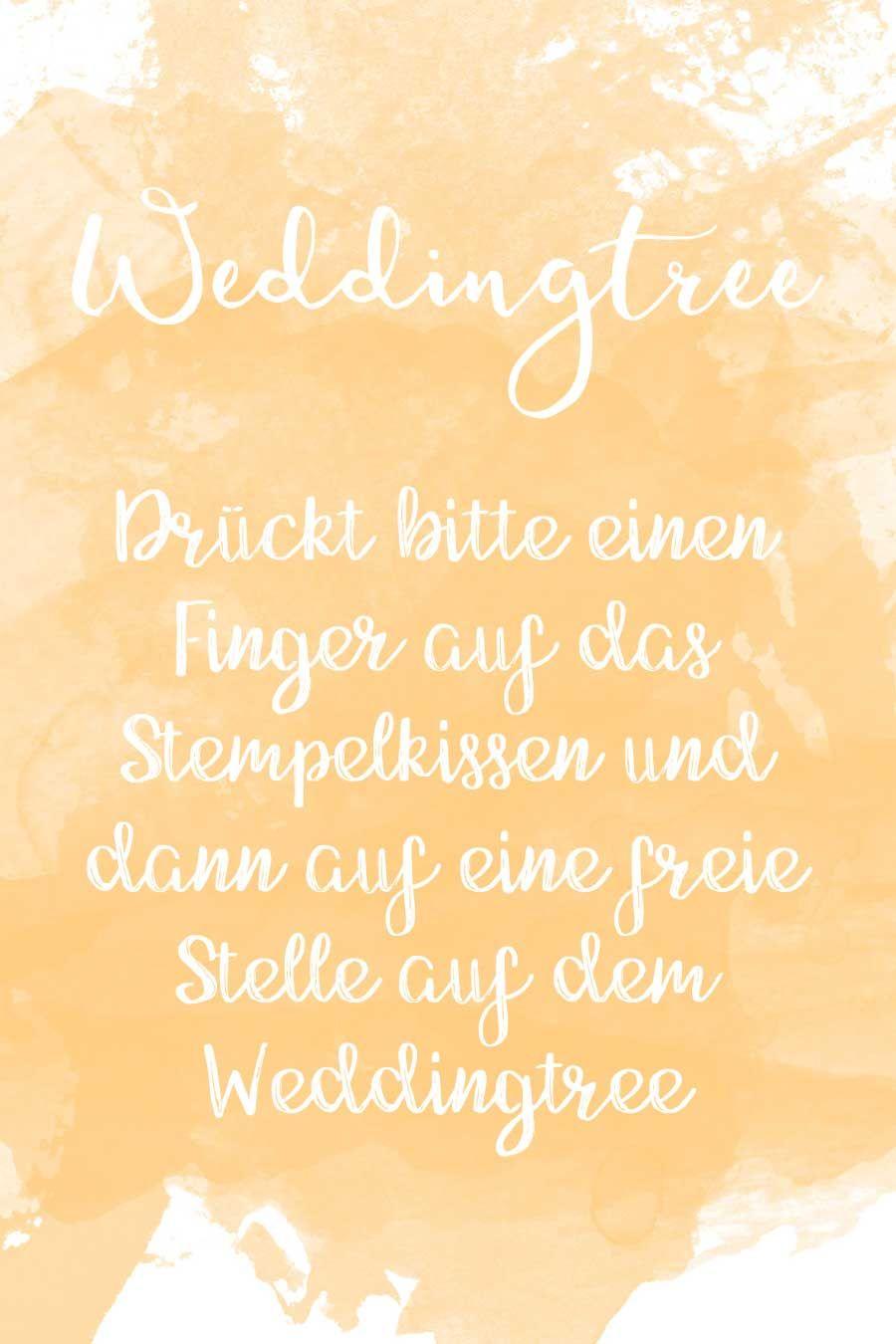 Weddingtree Schild-Vorlage im Wasserfarben-Look. Findet bei uns ...