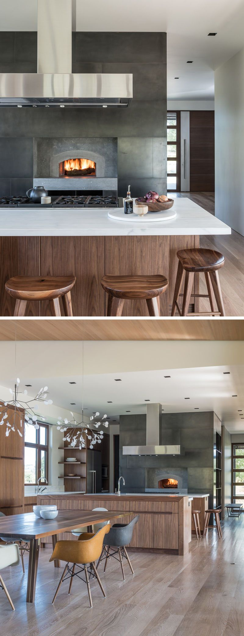 Kitchen Design Idea Include A Built In Wood Fire Oven In