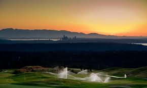 Seattle from the Newcastle Golf Club