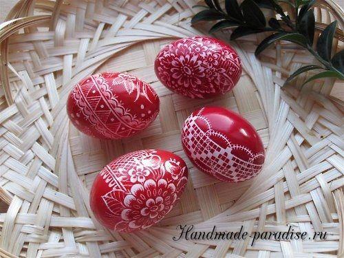 Роспись пасхальных яиц горячим воском (с изображениями ...