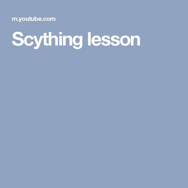 Scything lesson