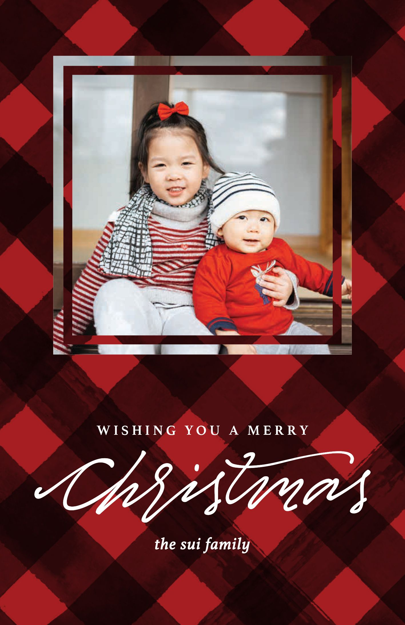 Pin By Vistaprint On Plaid Christmas Card Ideas Holiday Cards
