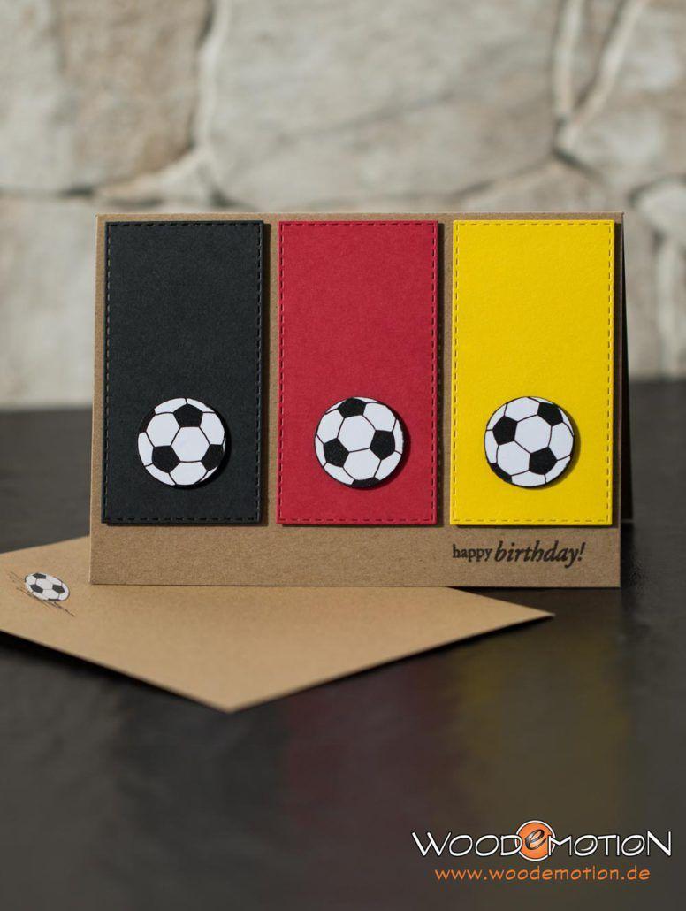 Geburtstagskarten Basteln Fur Jungs.Geburtstagskarte Fussball Fur Den Mann Fussballkarten