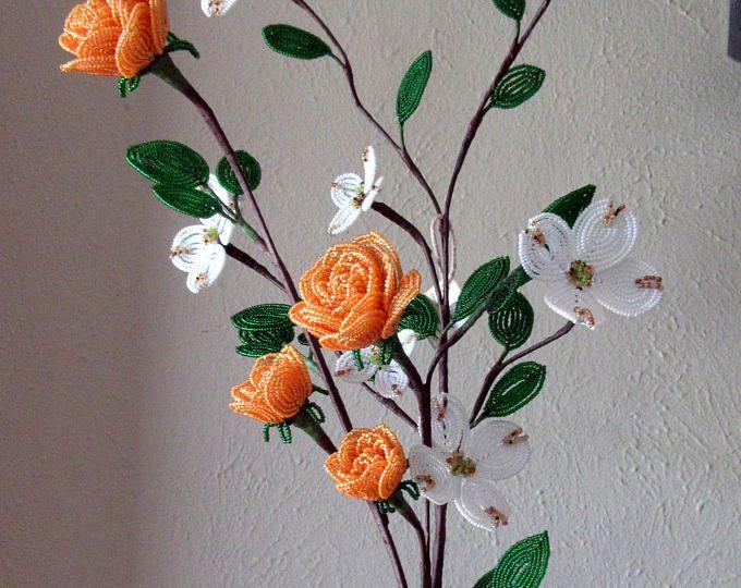 Hartriegel & Rosen - Dee es Französisch Perlen Blumen | Blumen aus ...