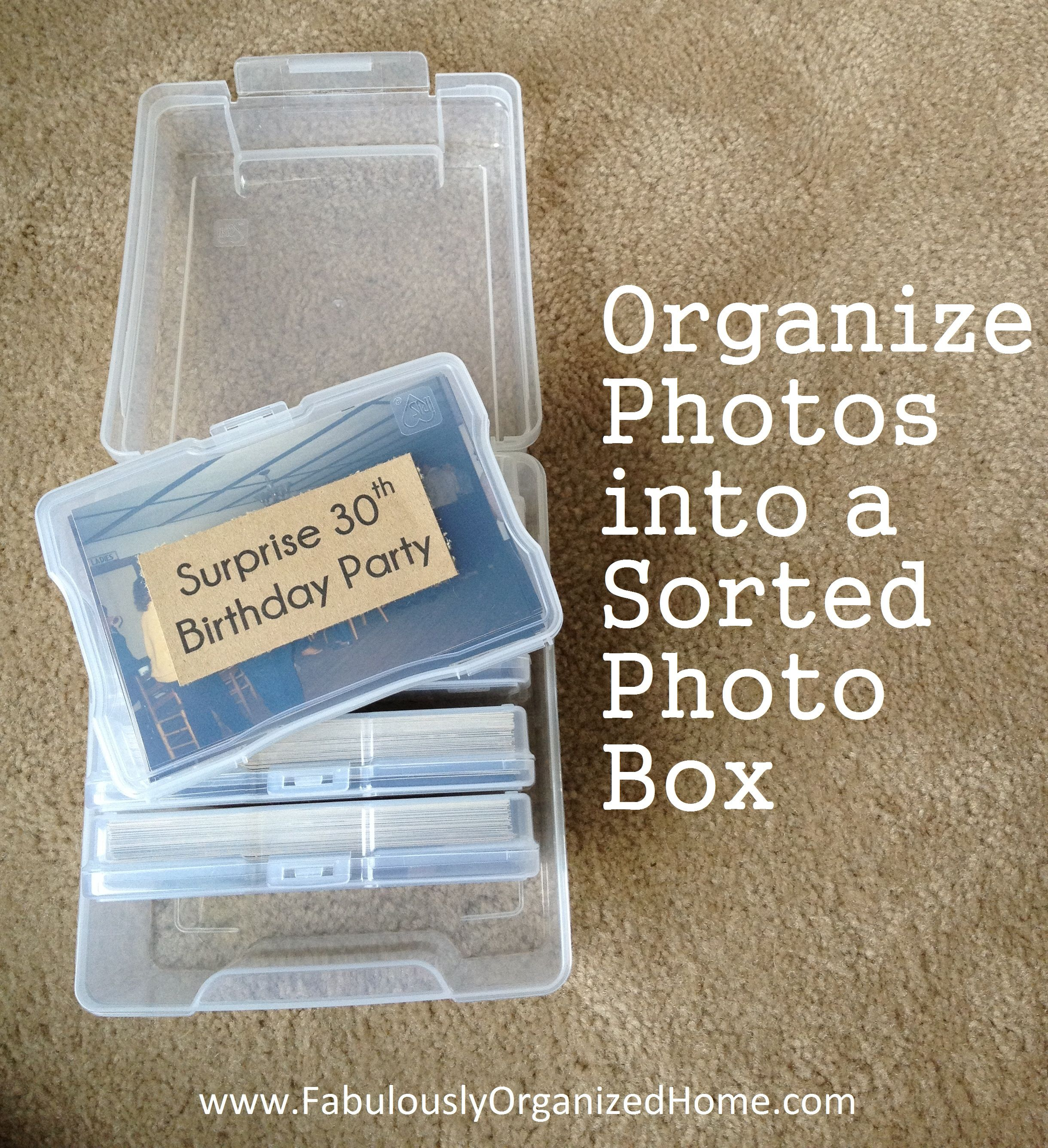 Organize Your Photos in a Containerized Photo Box // SimplyFabulousLiving.com