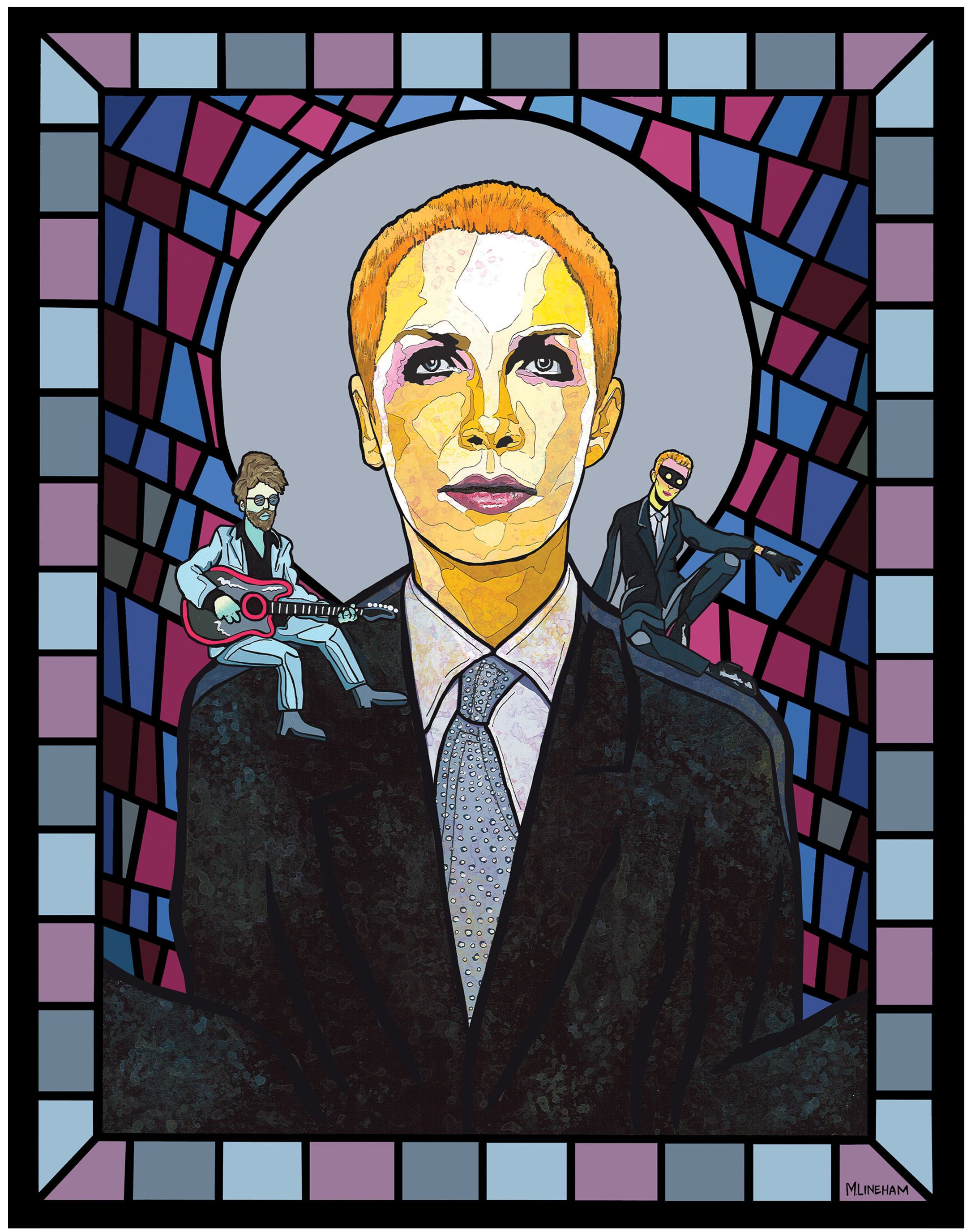 Saint Annie Lennox Eurythmics W Dave Stewart On Shoulder By Matthew Lineham