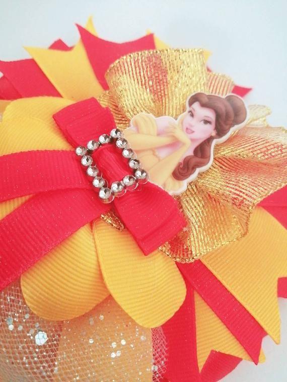 Disney Princess Bella, big hair bow, gift
