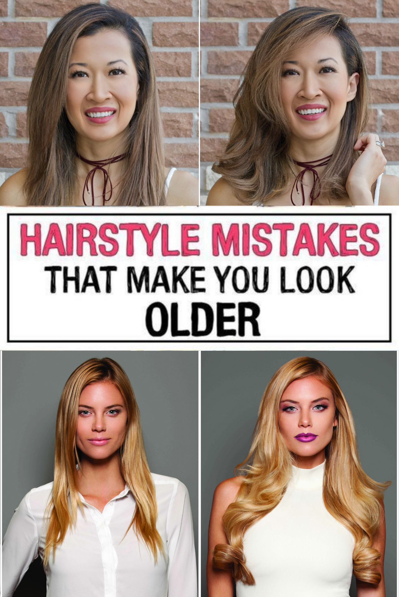 37 Hairstyle Mistakes That Are Aging You In 2020 Hair Mistakes Hair Advice Mom Hairstyles