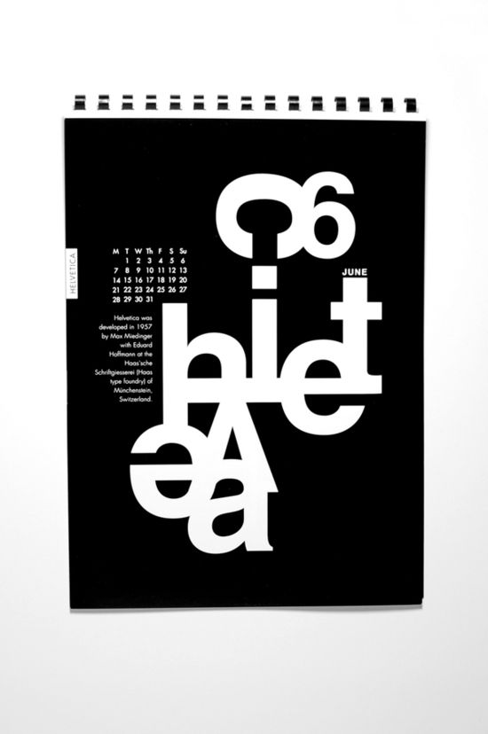 Calendar 2012 by Enikő Déri, via Behance