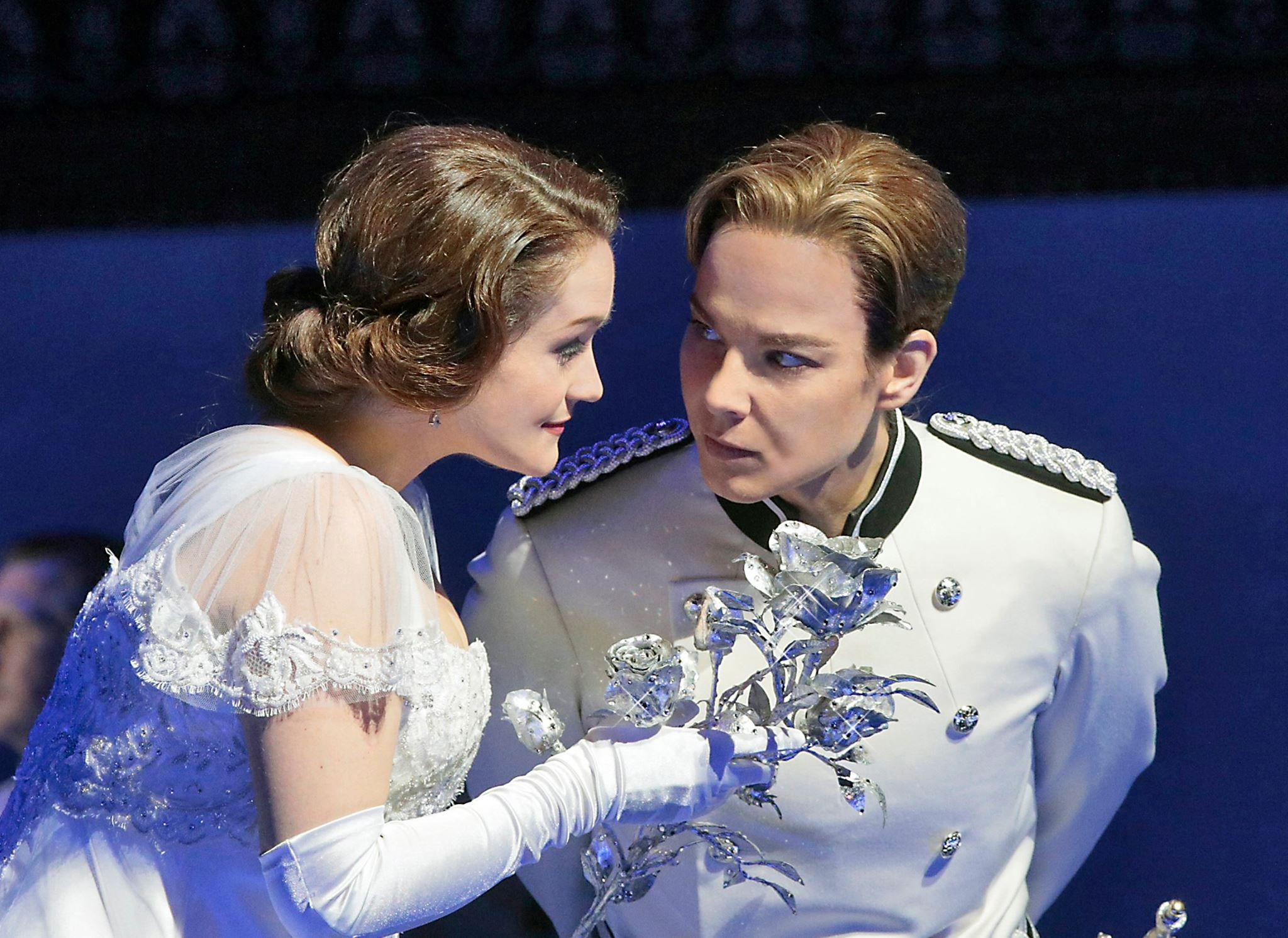 Elina Garanca as Octavian and Erin Morley as Sophie in The ...