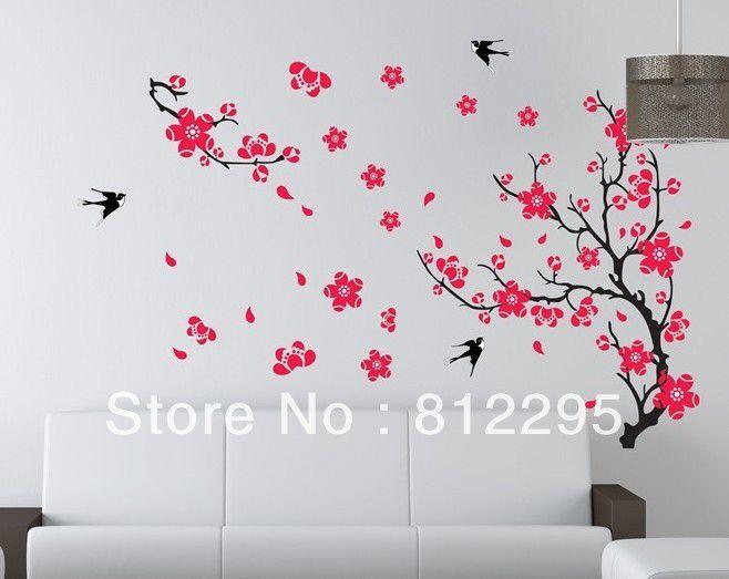 Sakura Cerezo Hana Cherry Bloom Decoracion De Paredes De Casa Pegatinas De Pared Decoracion De Pared