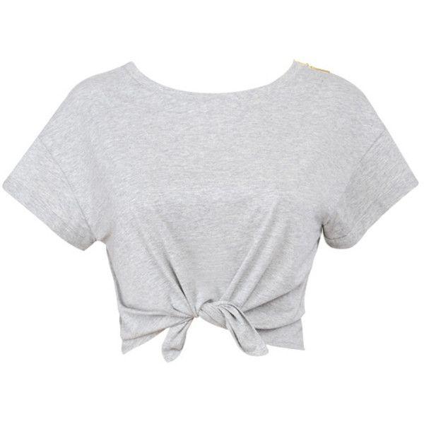 a9d2de7ed9cac All Tied Up  Grey Marl Cropped T Shirt - Mistress Rocks ( 25 ...