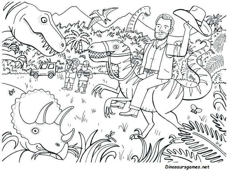 Pin On Free Jurassic Park Dinosaur Coloring Pages