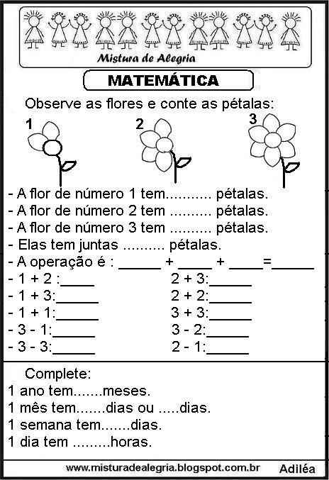 Matematica Ensino Fundamental I Com Diversas Atividades Para
