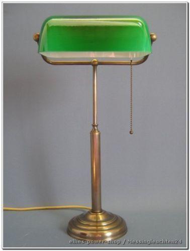 Banker Lampe Bankerleuchte Schreibtischlampe Messinglampe Neu Tl326 Schreibtischlampe Lampen Messing