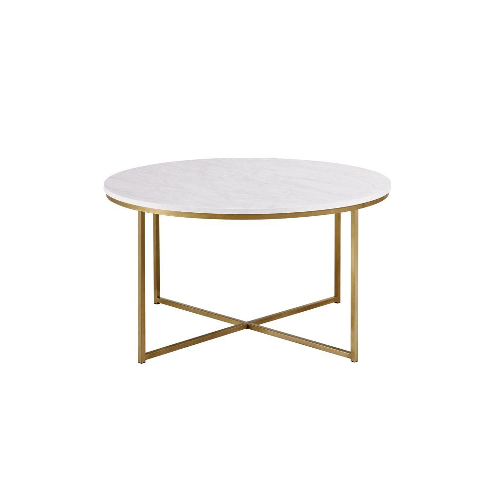 Ember Interiors Modern Round Coffee Table White Faux Marble Gold Walmart Com In 2021 Round Coffee Table Modern Gold Coffee Table Coffee Table [ 1000 x 1000 Pixel ]