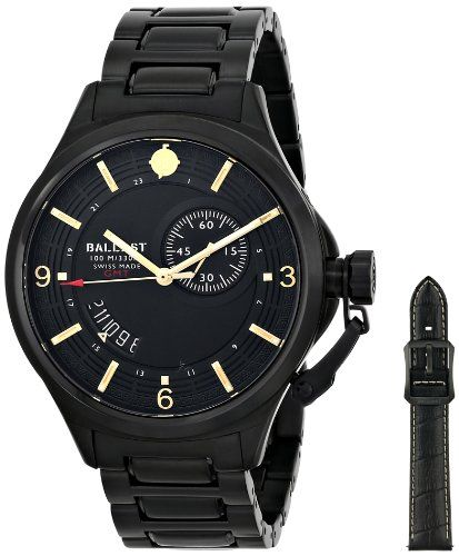 Ballast Men's BL-3126-66 Trafalgar Dress Analog Display Swiss Quartz Black Watch | Your #1 Source for Watches and Accessories
