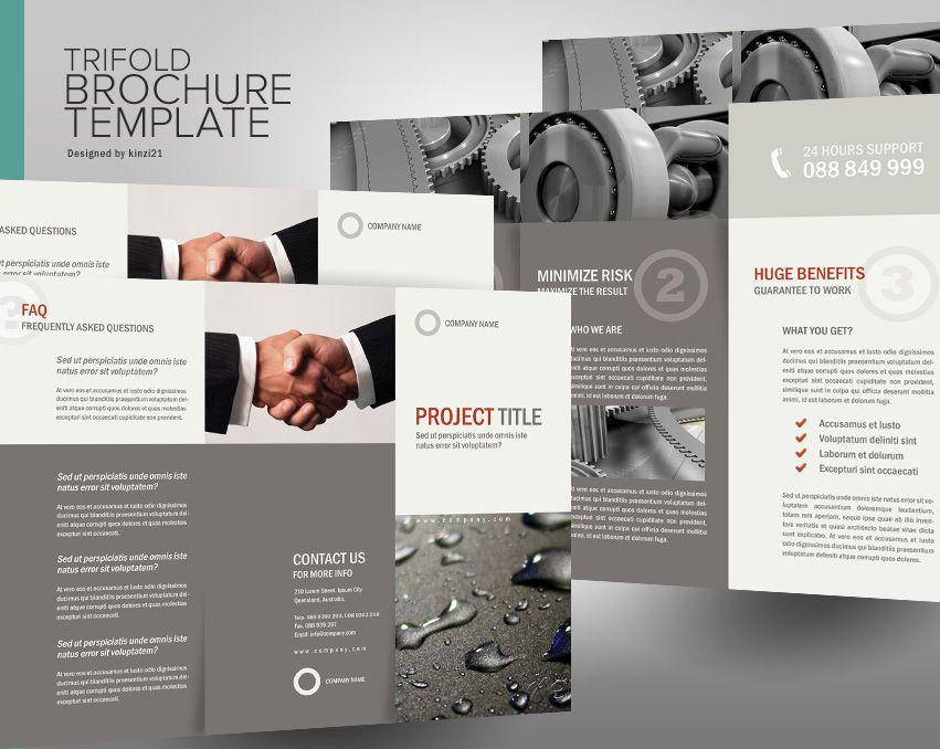 Panel AccordionFold Brochure  Brochure Design