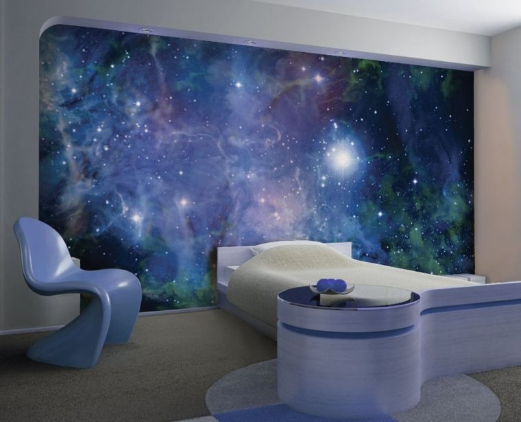 Nebula Removable Full Wall Mural | Space themed room ...