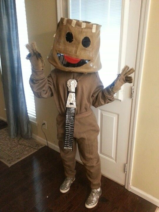 SackBoy costume creation without sewing! & SackBoy costume creation without sewing! | Getting Crafty ...