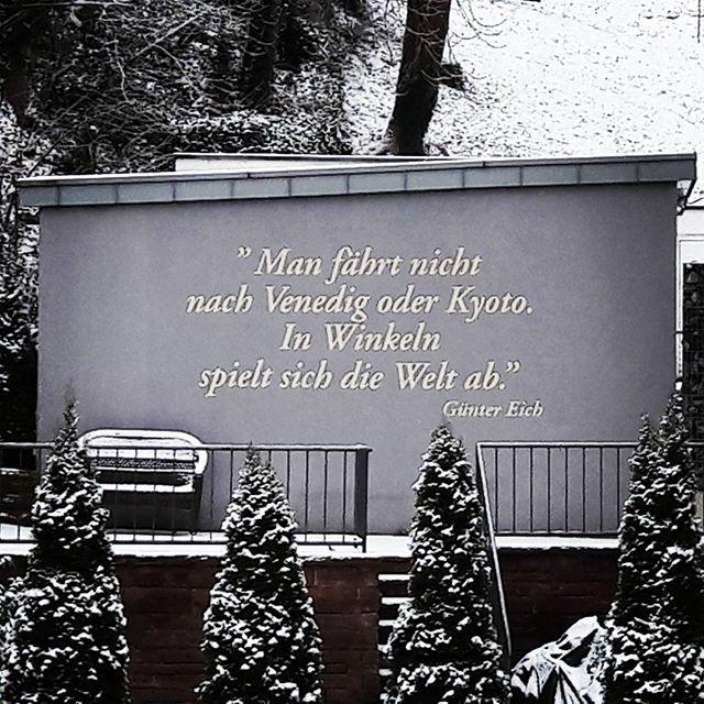 Entdeckt im verschneiten Stuttgart ⛄❄ #zitate #weisheiten - mega k chenmarkt stuttgart