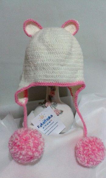 Touca de Croche Bebe Ursinho  f0a649fb695
