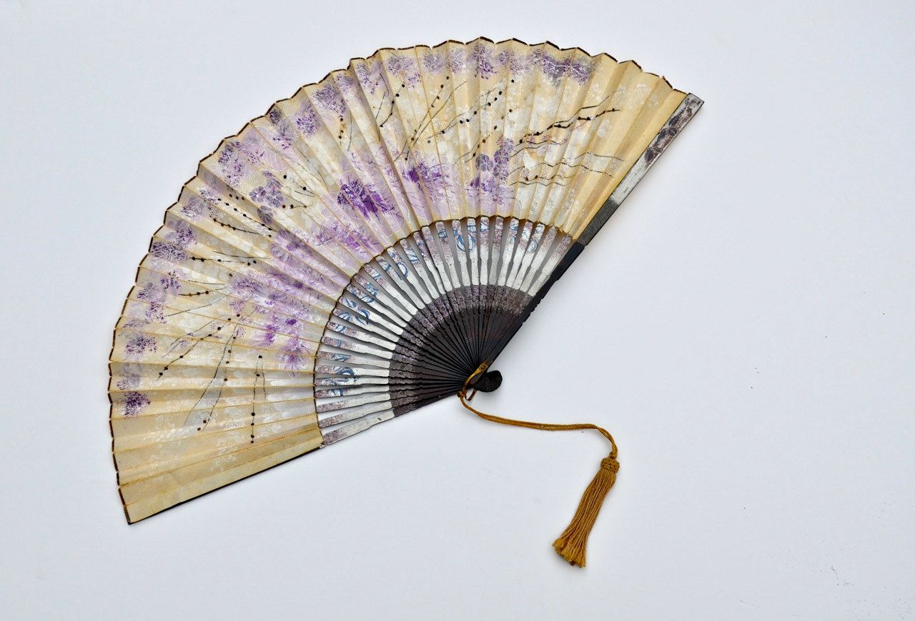 antique hand painted japanese fan. $42.00, via Etsy.