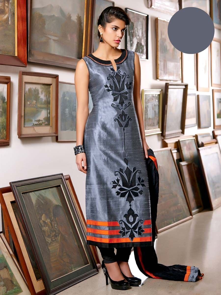 Contrast with grey color in dresses