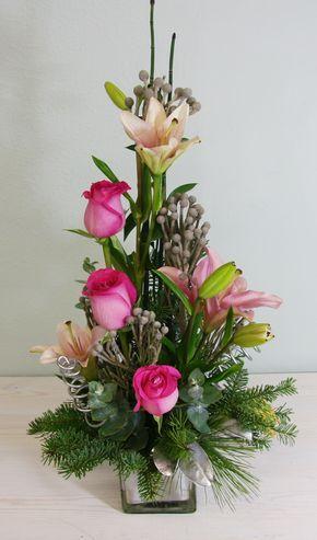 Pink Christmas Arreglos Con Flores Diferentes Ocasiones