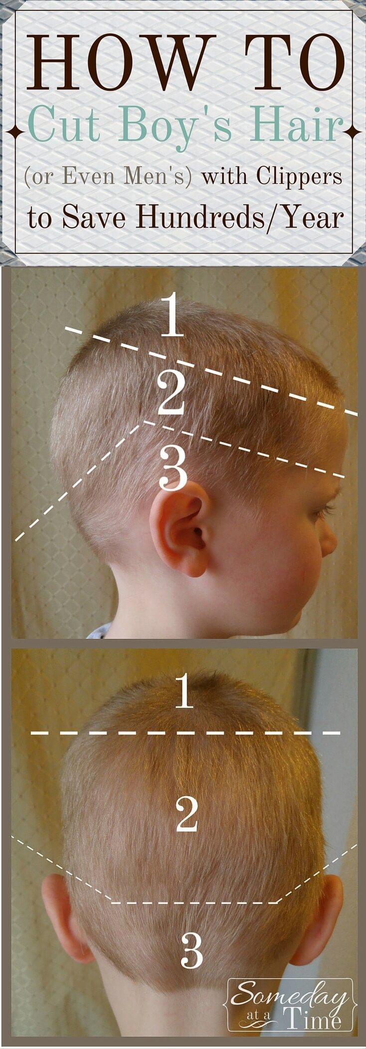 Boy hairstyle in 2018 how to cut boy s hair or even men s with clippers someday at a time