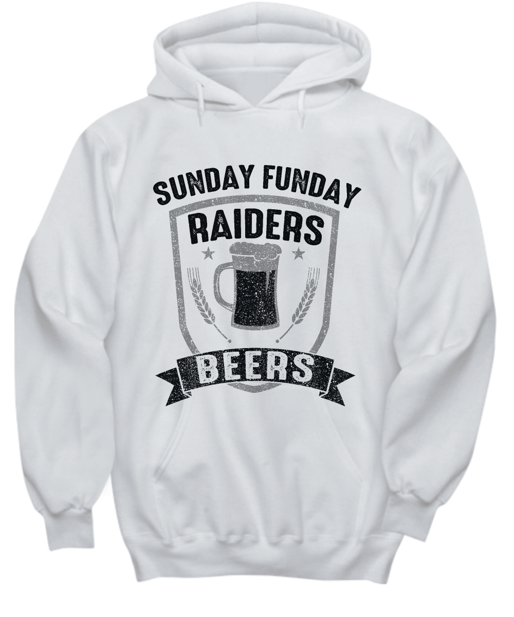 664da93c9 Sunday Funday Raiders And Beers Football Hoodies | Products | Sunday ...