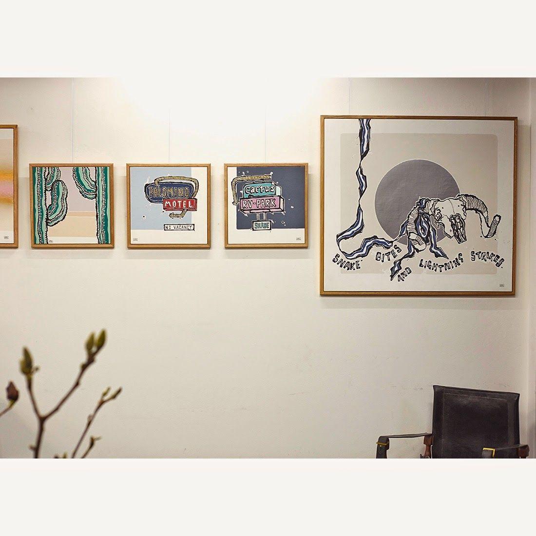 Square, neutral oak frames (borderless artwork) | Home | Pinterest ...