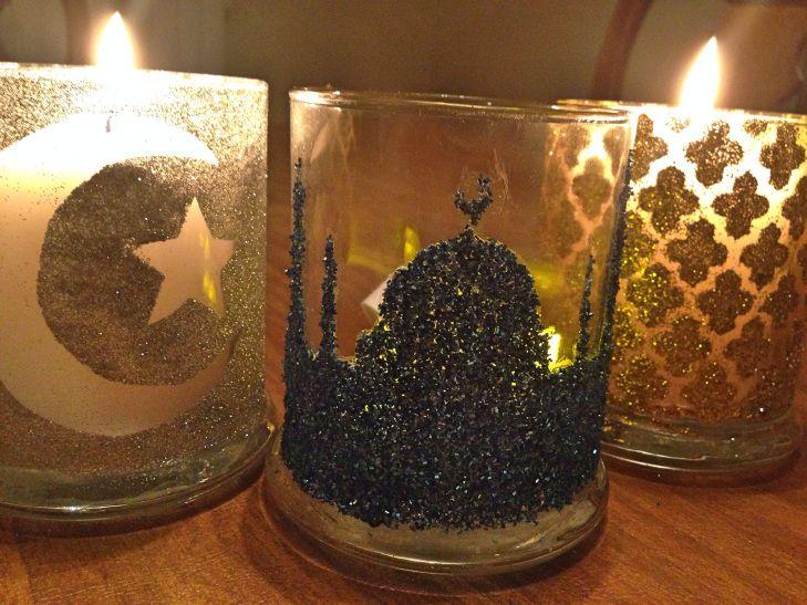 Ramadan festive candle holder celebrate ramadan eid for Ramadan decorations at home
