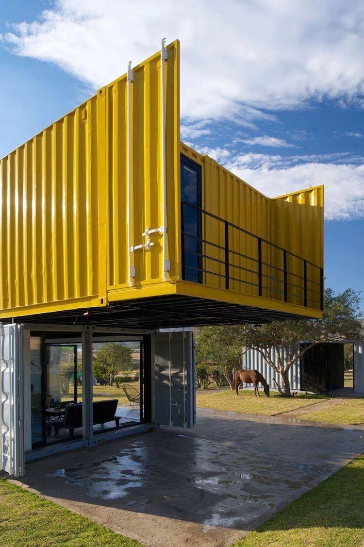 Afbeelding van Architecture Container door Christophe Lalmand   Zeecontainer huizen, Container ...