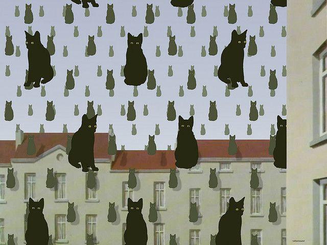 """Golconda Cats"", René Magritte"