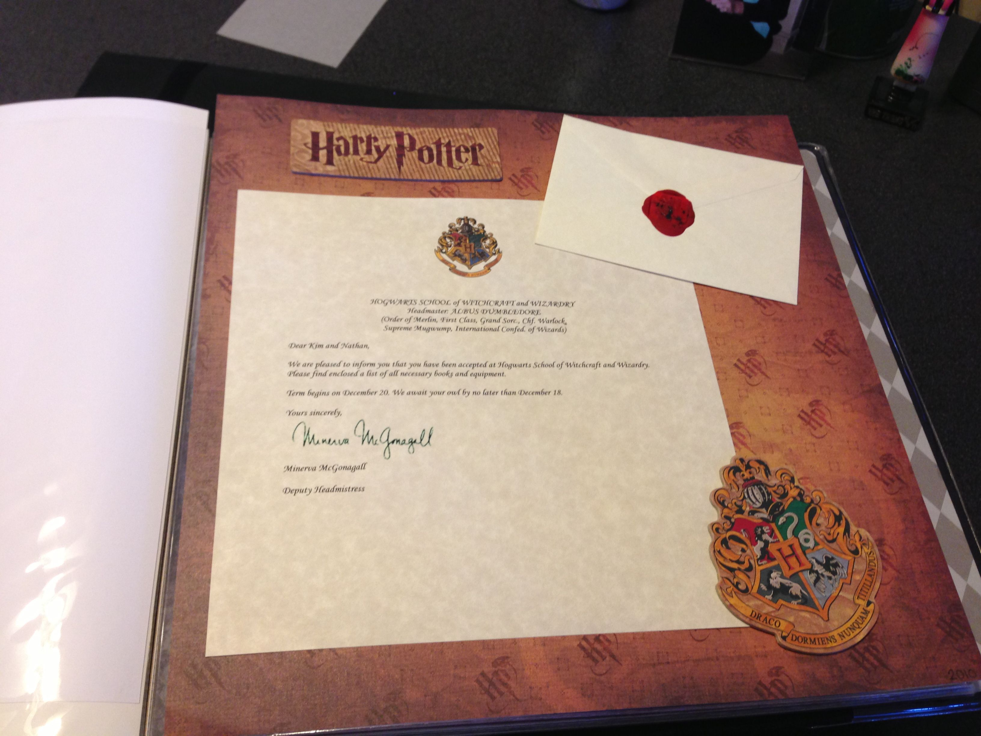 Visiting wizarding world of Harry potter?? Scrapbook a