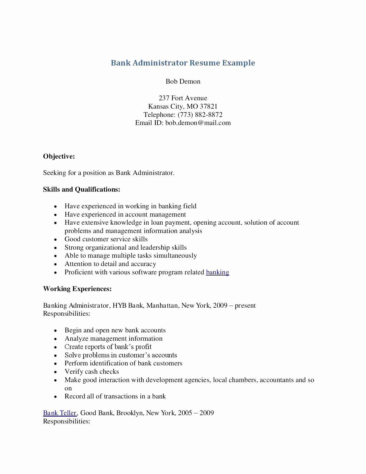 Bank teller responsibilities resume inspirational 12 13