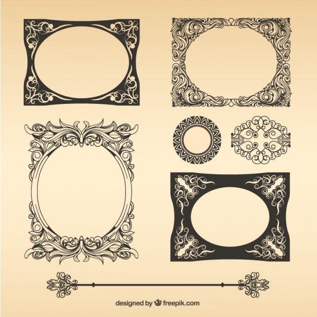 paquete-de-marcos-vintage-vector_23-2147504074.jpg (626×626)