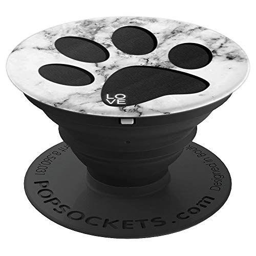 White Marble Black Puppy Dog Amp Cat Paw Print Design Cute Gi