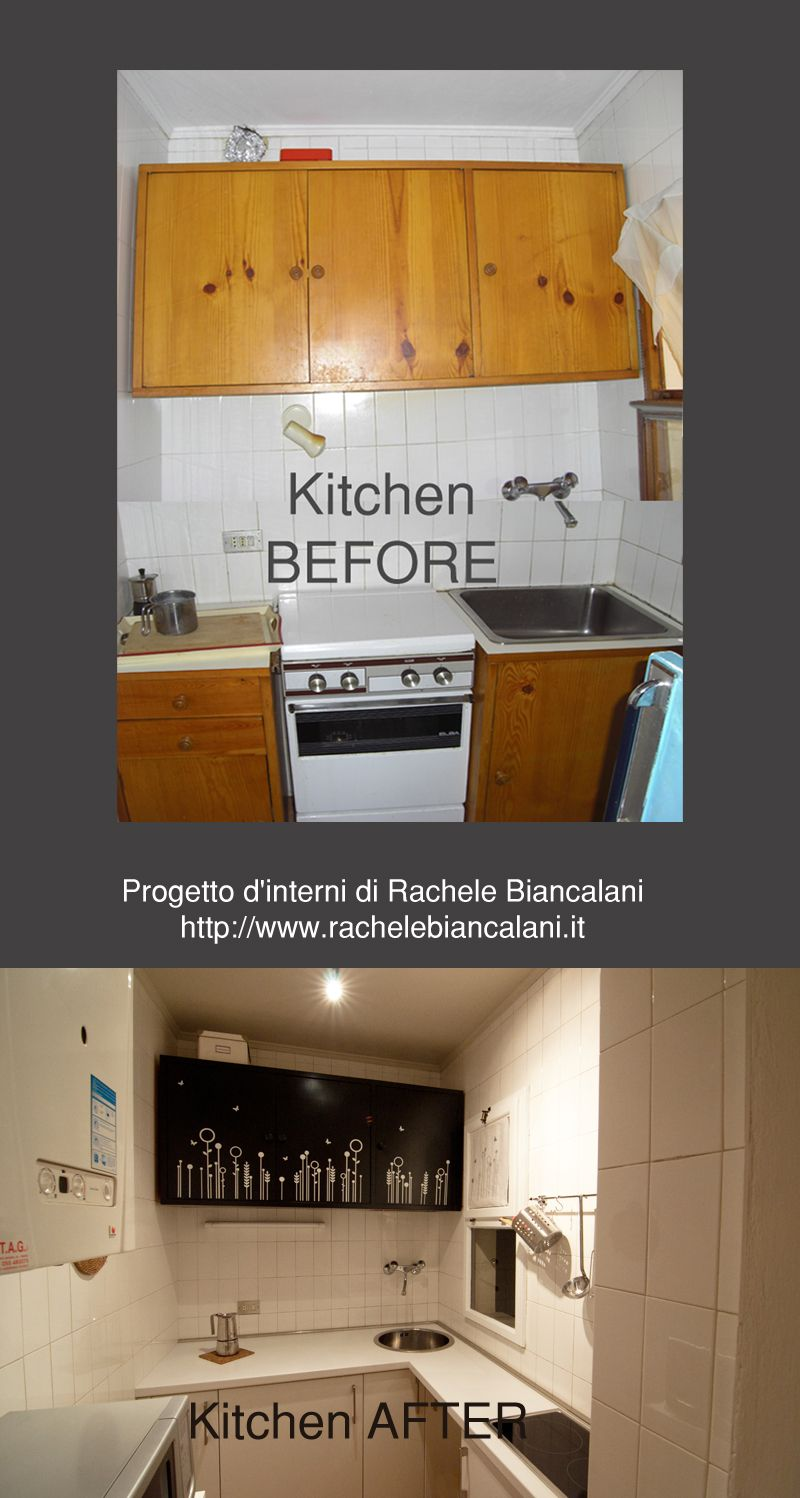 Before & After - Kitchen Makeover by Rachele Biancalani