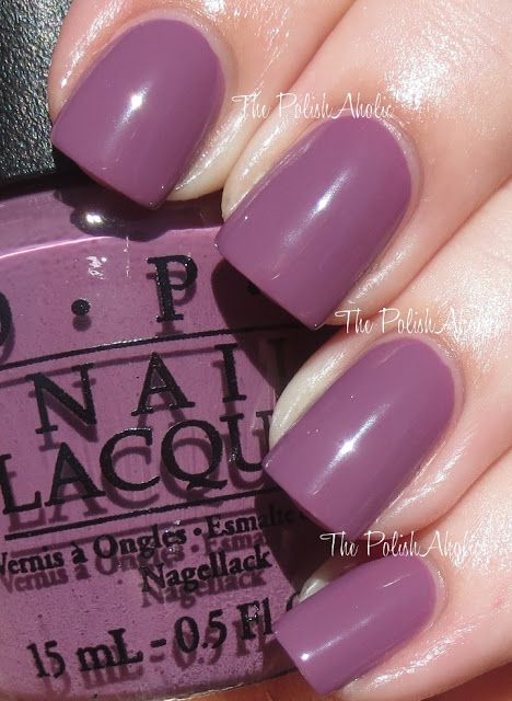 OPI Miss Universe 2013 Collection - I'm Feeling Sashy is a dusty medium purple creme
