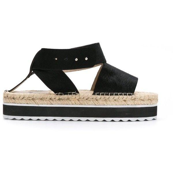 Manolita flatform sandals (945 HKD) ❤ liked on Polyvore featuring shoes, sandals, black, black sandals, kohl shoes, black shoes, flatform sandals and black flatforms