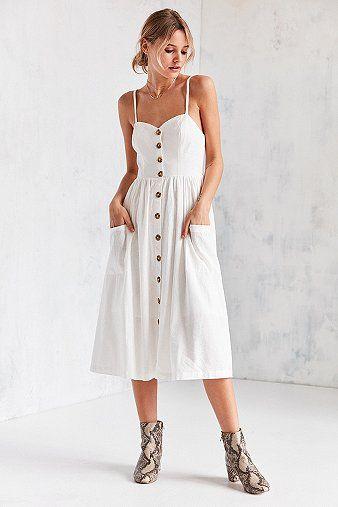 Midi kleid knopfleiste
