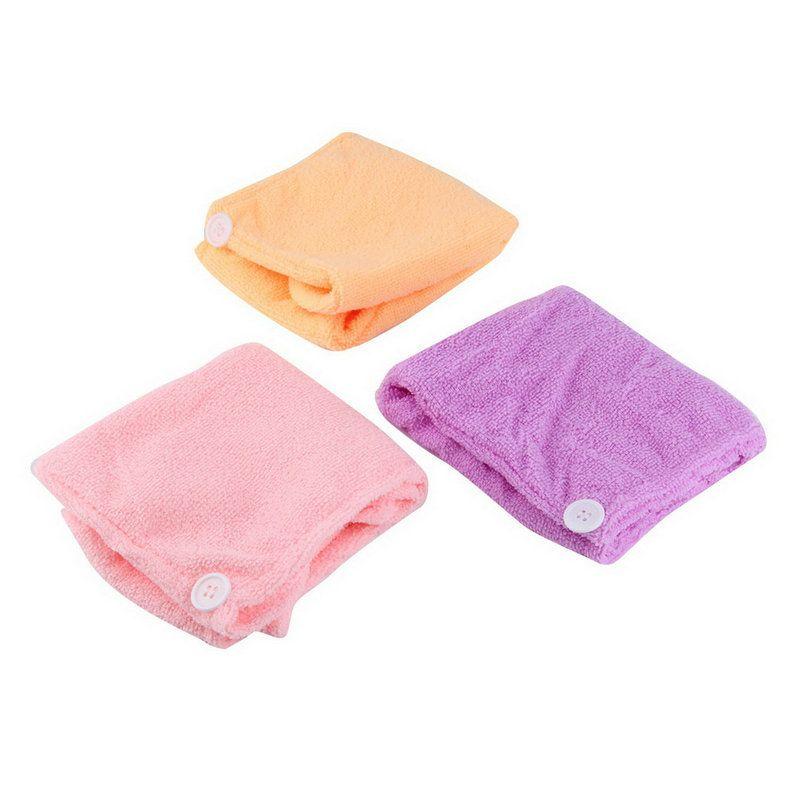pac le séchage rapide microfibre cheveux serviette sèche wrap chapeau