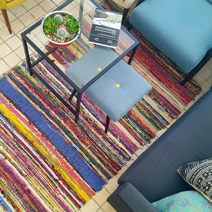Colorful Chindi Rug Handmade Piece Of Art From S Material