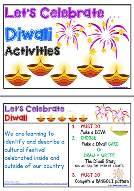 Diwali activities management charts also abc rh pinterest