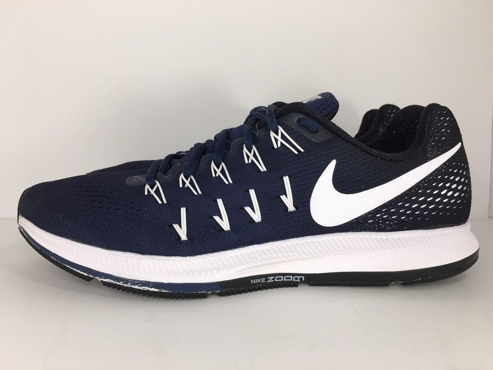 ffa820ae28a9 Men s Nike Air Zoom Pegasus 33 Navy White Running Shoes 843802-401 Size  11.5 US